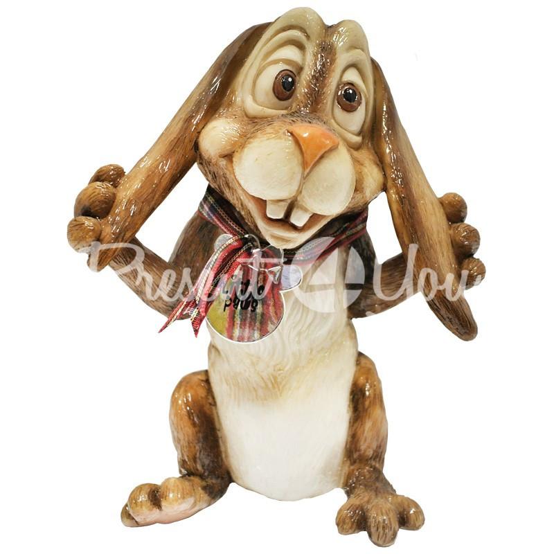 Фигурка-статуэтка коллекционная с керамики, Англия, кролик «Волли» h-13 см