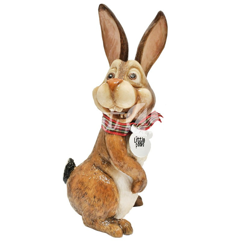 Фигурка-статуэтка коллекционная с керамики, Англия,кролик «Люси» h-18 см