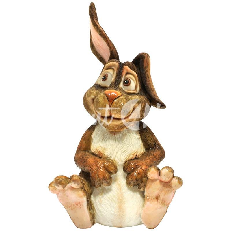 Фигурка-статуэтка коллекционная с керамики, Англия, кролик «Питер», h-24 см