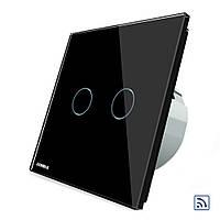 Livolo черная стеклянная панель пультом дистанционного управления и сенсорный выключатель ЕС стандарт вл-c702r-12