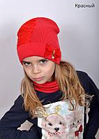 Шапка детская для девочки демисезонная, фото 1