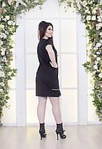 """Облегающее трикотажное мини-платье """"PLIORA"""" с перьями и коротким рукавом (большие размеры), фото 2"""