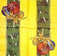 Декупажная салфетка Новогодние шары 337