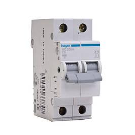 Двухполюсные автоматические выключатели 0,5-63А,6 кА, хар. В и С