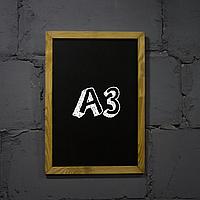 """Меловая доска с рамкой """"Дуб"""" форматом А3 вертикальная"""