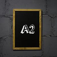 """Меловая доска с рамкой """"Дуб"""" форматом А2 вертикальная"""