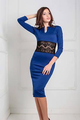 Жіноче вечірнє синє плаття Milisen