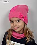 Красивая Весенняя Шапка для девочки с гипюро, фото 2