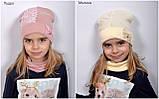 Красивая Весенняя Шапка для девочки с гипюро, фото 5