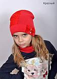 Красивая Весенняя Шапка для девочки с гипюро, фото 6