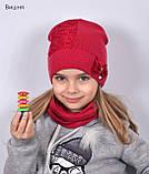 Красивая Весенняя Шапка для девочки с гипюро, фото 7