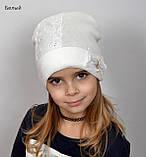 Красивая Весенняя Шапка для девочки с гипюро, фото 8