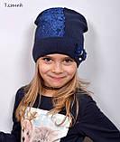 Красивая Весенняя Шапка для девочки с гипюро, фото 9
