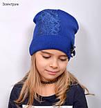 Красивая Весенняя Шапка для девочки с гипюро, фото 10