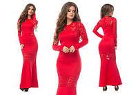 Изысканное женское платье длинны макси ткань *Дайвинг* 42, 44, 46 размер норма