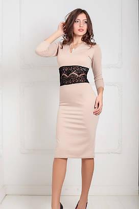 Жіноче вечірнє бежеве плаття Milisen (XS-XXL)