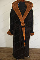 Мужской махровый коричневый халат