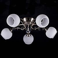 Люстра на 5 лампочек (античная бронза) P3-1196/5C/AB+WT