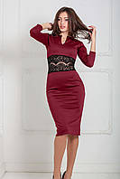 Жіноче вечірнє бордове плаття Milisen Розпродаж (M)