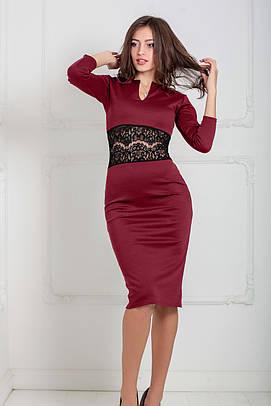 Жіноче вечірнє бордове плаття Milisen
