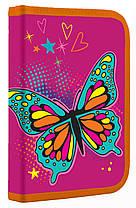 Пенал шкільний 1 Вересня Butterfly одинарний з клапаном 530816