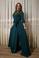 Платье женское Запах длинное (марсала)