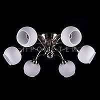 Люстра на 6 лампочек (античная бронза) P3-1196/6C/AB+WT