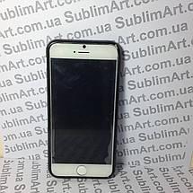 Чехол для 2D сублимации резиновый (TPU) Iphone 6/6s черный, фото 2