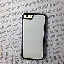 Чехол для 2D сублимации резиновый (TPU) Iphone 6/6s черный, фото 3