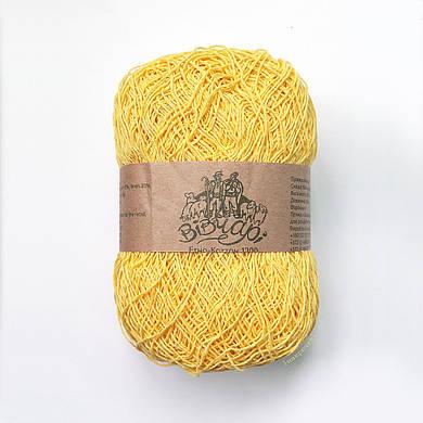 Пряжа для вязания летних вещей хлопок 1200 ТМ Vivchari 007 желтый