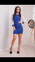 """Элегантное женское платье с """"отложным воротничком"""" ткань """"костюмная"""" размер 46, 48 норма"""