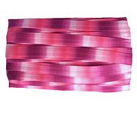 Резинка-бейка эластичная Бело-розово-малиновая 1.5 см/1 м