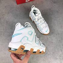 Мужские кроссовки Nike Air More Uptempo White/Light Blue/Gum 414 962 103, Найк Аир Мор Аптемпо, фото 2