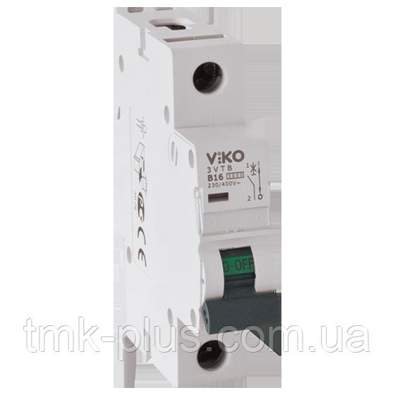 Автомат 1C (однополюсний) 6А  4,5КА  230/400V Тип C Viko