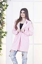 """Женское шерстяное пальто """"PINK"""" с брошью и карманами, фото 2"""