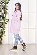 """Женское шерстяное пальто """"PINK"""" с брошью и карманами, фото 3"""