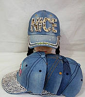 Кепка для девочки джинсовая р 54-56
