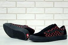 Женские кеды Vans Old Skool Black Red Tile, Ванс Олд Скул, фото 3