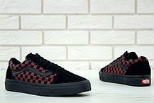 Женские кеды Vans Old Skool Black Red Tile, Ванс Олд Скул, фото 2