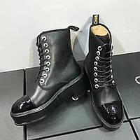 Ботинки с лакированным носком Chanel