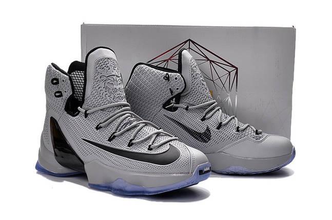 Мужские кроссовки NIKE LEBRON 13  ELITE EP серые баскетбольные, фото 2