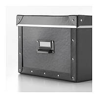 ФЬЕЛЛА Коробка с крышкой, темно-серая, 27x36x20 60338254 IKEA, ИКЕА, FJÄLLA