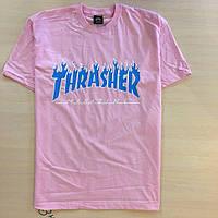 Футболка розовая Thrasher Magazine logo | Оригинальная бирка, фото 1
