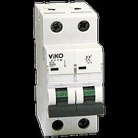 Автомат 2C (двохполюсний) 63А  4,5КА  230/400V Тип C Viko