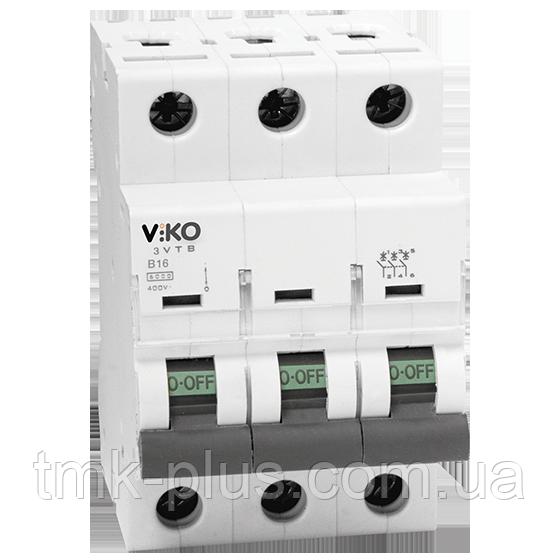 Автомат 3C (трьохполюсний) 6А 4,5 КА 230/400V Тип C Viko