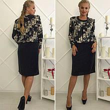 """Модное и элегантное блестящее женское платье ткань """"стрейч сетка+рюлексная нить"""" т 54, 56, 58, 60 размер батал"""