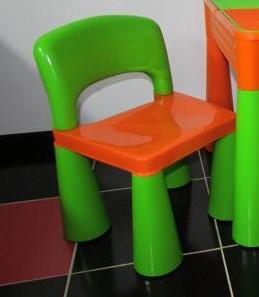 Детский стул Tega Baby Mamut, Польша (оранжевый с зеленым)