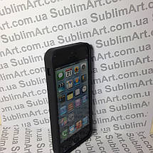 Чехол для 2D сублимации резиновый (TPU) Iphone 5/5S черный, фото 2