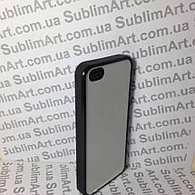 Чехол для 2D сублимации резиновый (TPU) Iphone 5/5S черный, фото 3