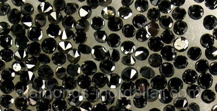 Бриллиант чёрный ннатуральный природный по 135$/карат